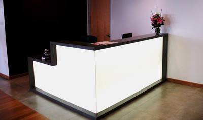 Acrylic office reception counter