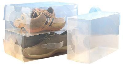 Transparent plastic shoes box