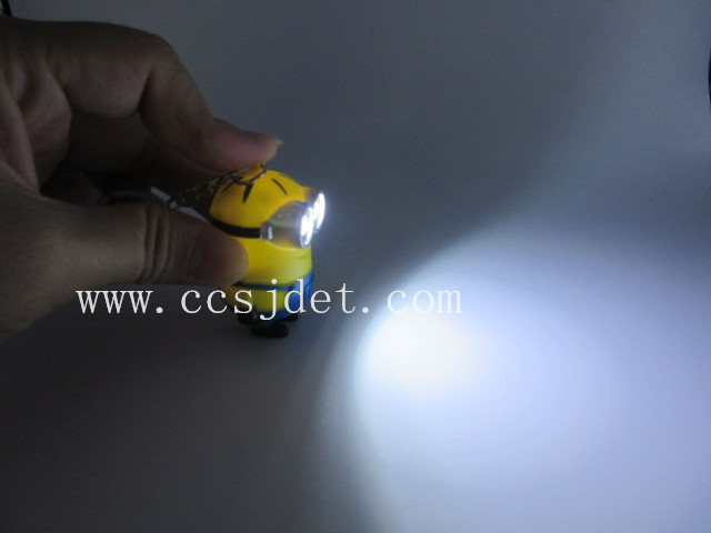 PVC LED keychin with sound