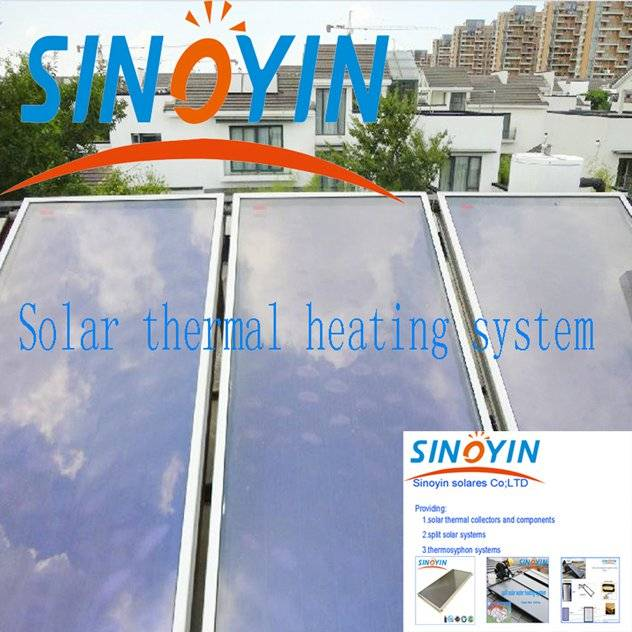 solar thermal heating collector of 2.5sqm solar key mark