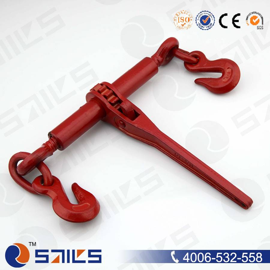 red painted drop forged ratchet load binder