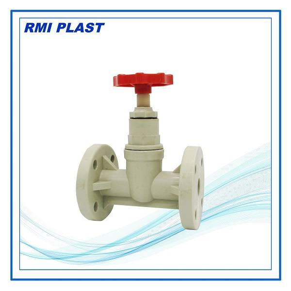 PP,PVC,PVDF globe valve flange ANSI, JIS, DIN