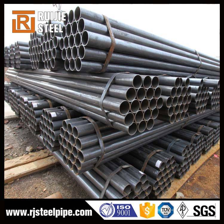 Carbon fiber black ERW round steel pipe