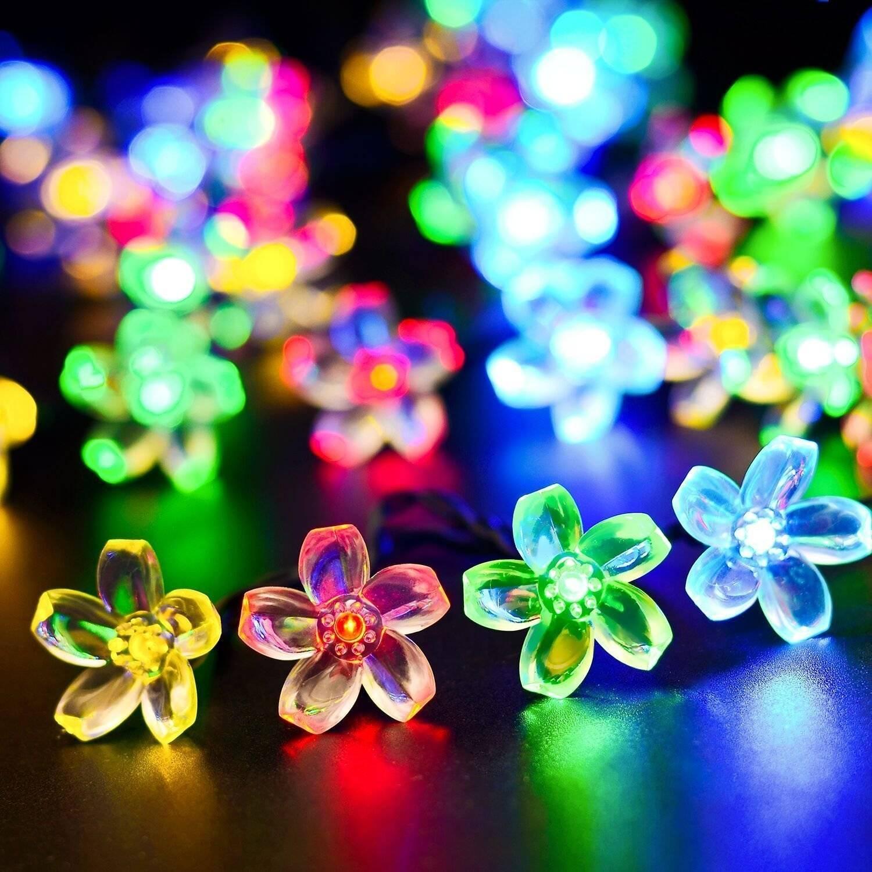 20led 30led 50led Outdoor Solar Powered String Lights Decorative Christmas Fairy Blossom Light for P