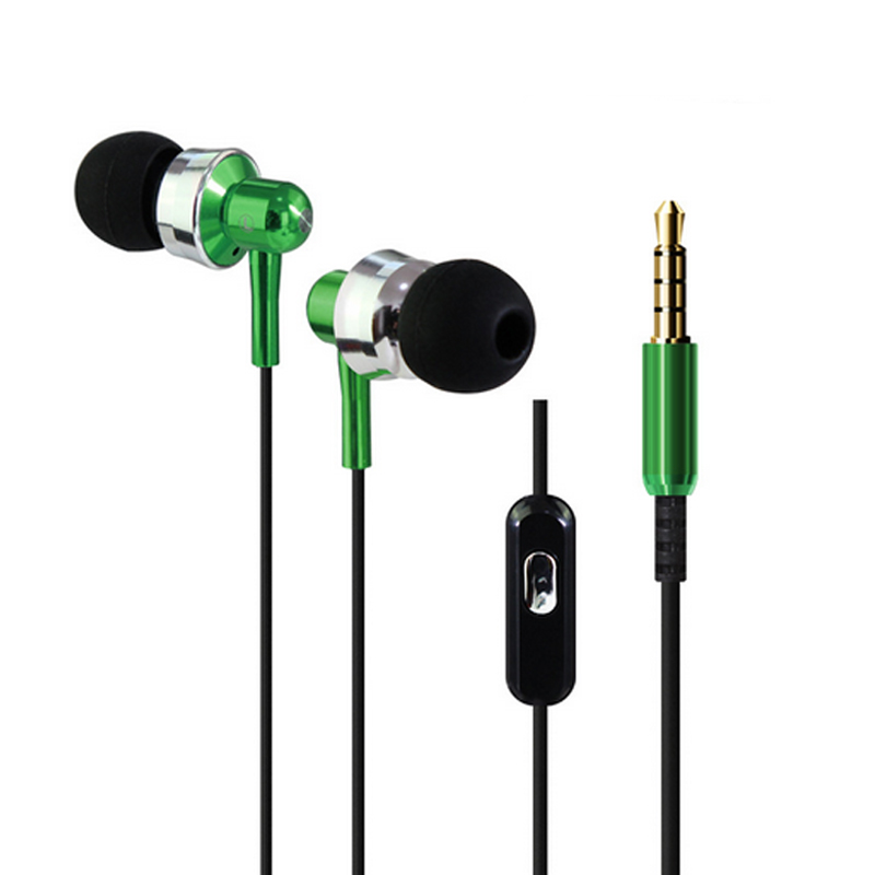 China earphone in ear earpiece and colorful fashion metal earphones for mobile phone