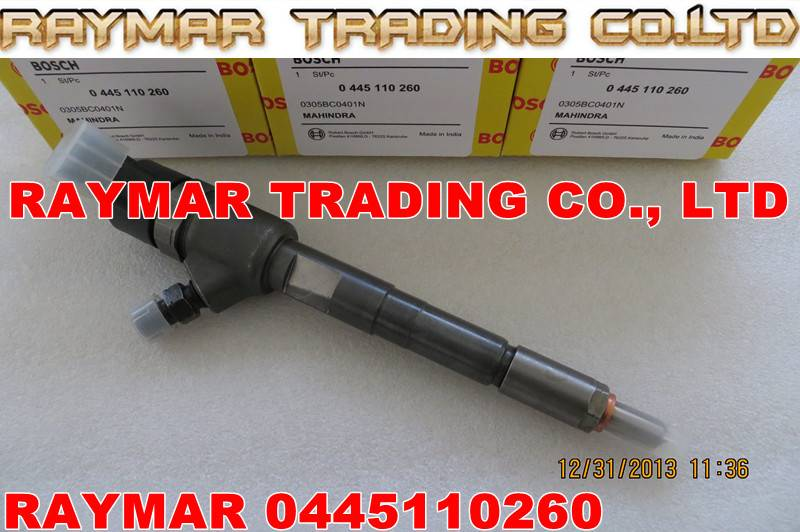 BOSCH common rail injector 0445110260 for MAHINDRA 0305BC0401N