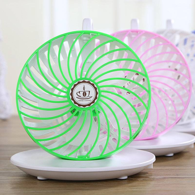 Fantastic Coffee Cup Rotatable Hanging fan & Portable Mini USB Fan