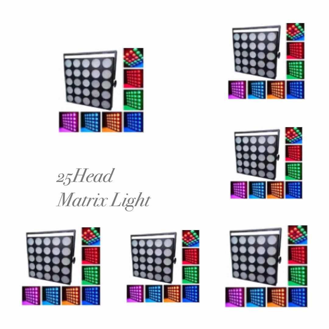 LED 25-head matrix light