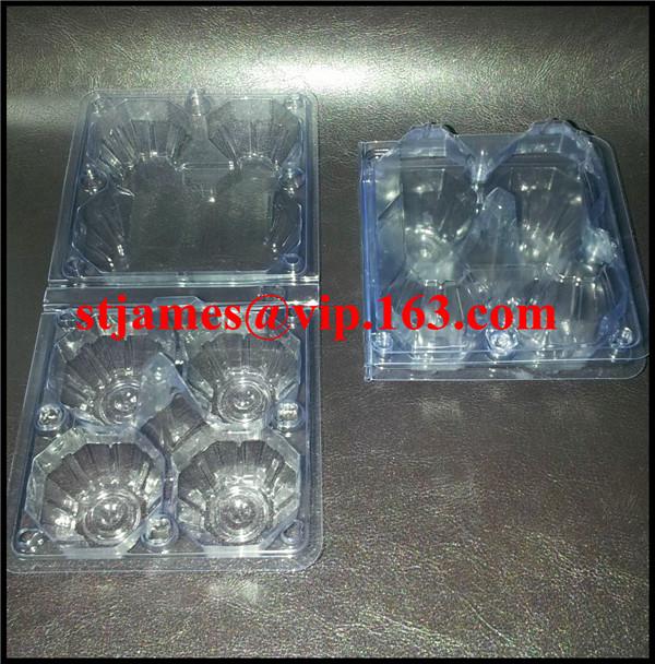 Sales Promotion Economical strong transparent PVC 4 Eggs Tray