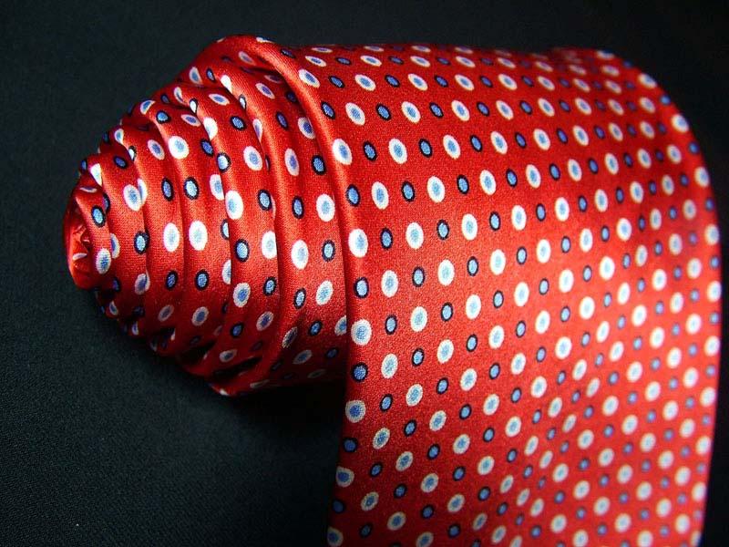 Red Printed Silk Necktie