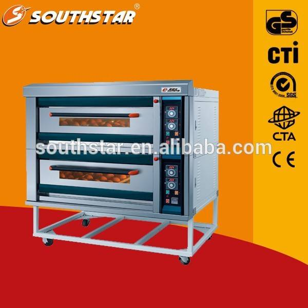 With Undershelf Gas Model Double Deck Oven/Baguette Bread Oven/Deck Oven With Steam