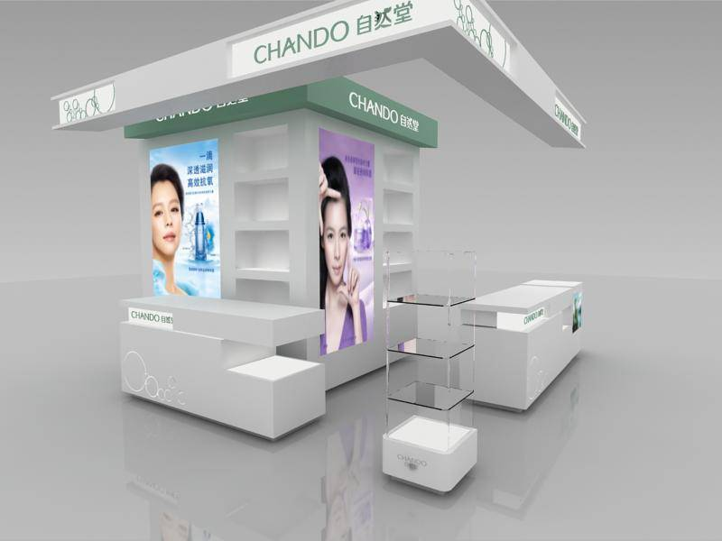 Customized cosmetic display furniture for cosmetic kiosk stand