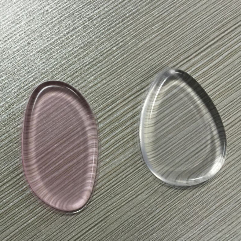 Transparent silicone powder puff