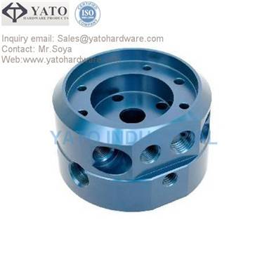 CNC 4 axies machinined aluminum part with anodized