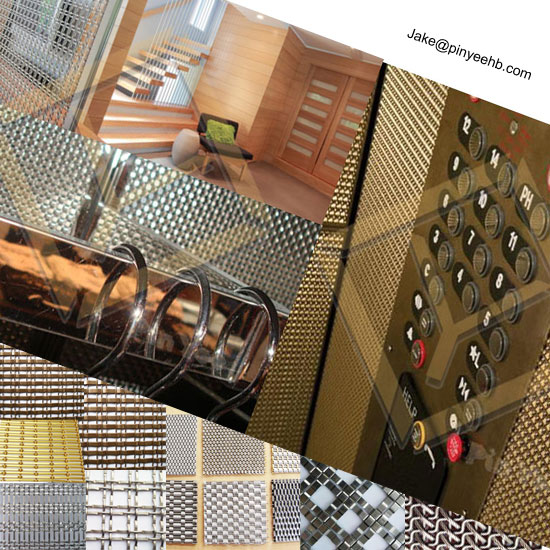 Interior Decorative cladding Polished Woven METAL MESH