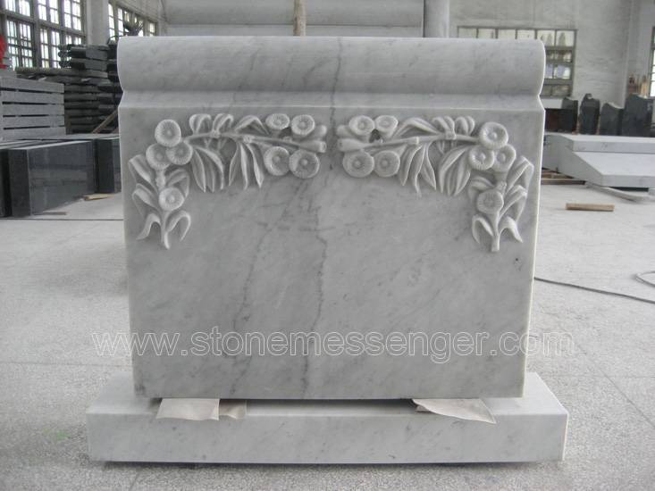 White Marble Headstone Monuments