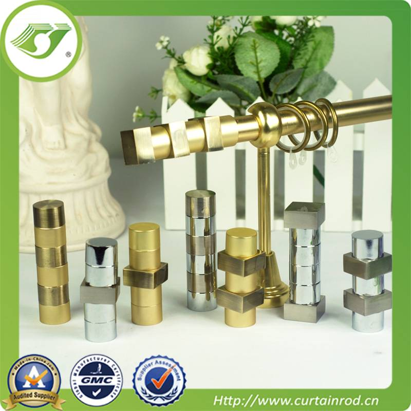 Hot sell curtain rod set/simple design/metal curtain rods