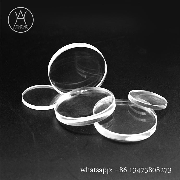 Tempered glass borosilicate round sight glass with polished edge