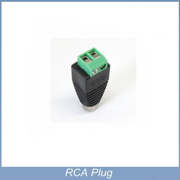 green and black color RCA female plug adapter to terminal connector for CCTV,LED