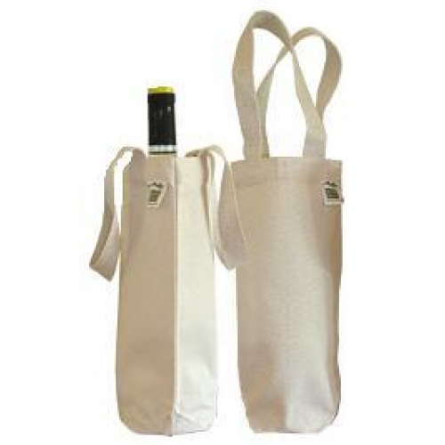 organic cotton wine bag