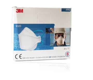 3M Aura 9320+ - Unvalved Dust Mask Respirator FFP2