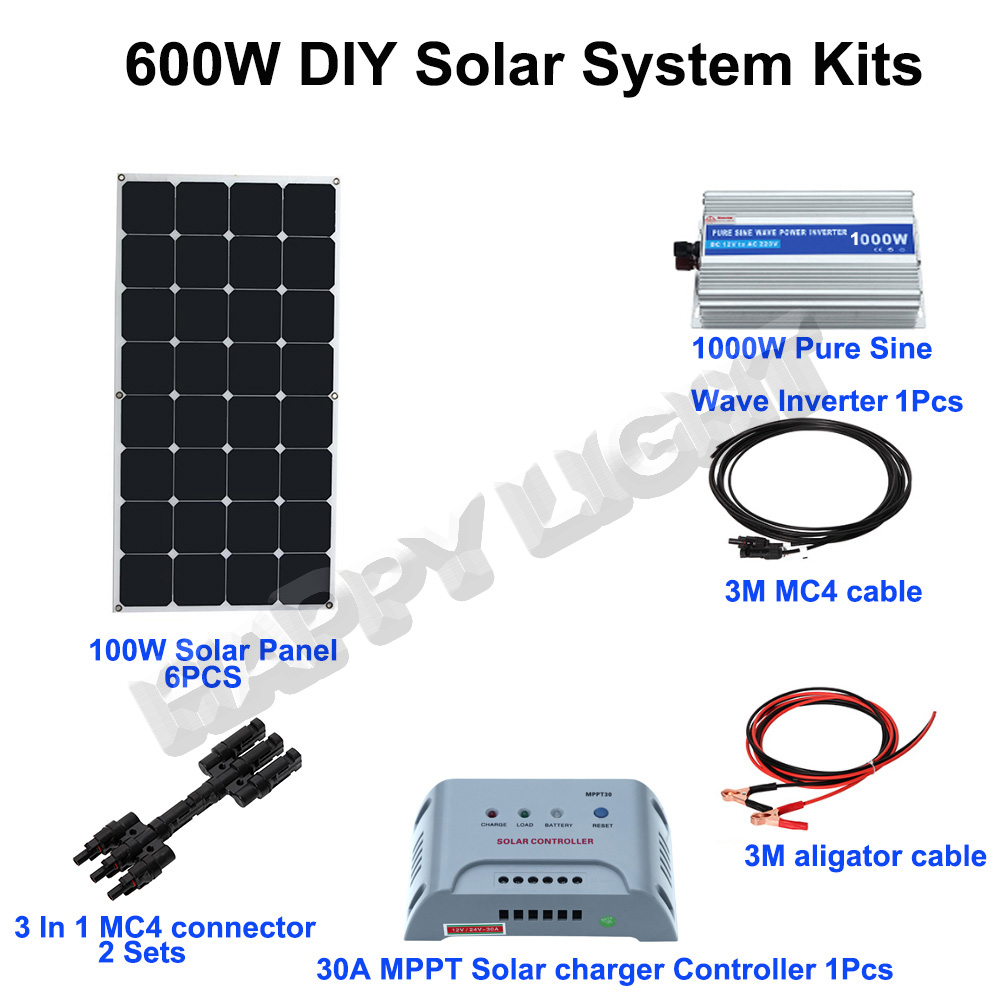 600W DIY SOLAR ENERGY SYSTEM FOR HOME USE