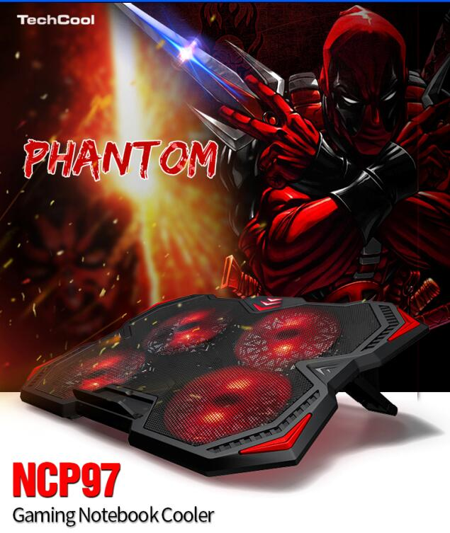 NCP97 Gaming Laptop Cooler with 4 LED light and 2 USD port