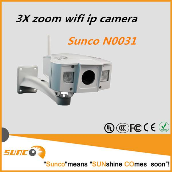 3X Optical Zoom, P2P, IR-CUT WIFI IP CAMERA