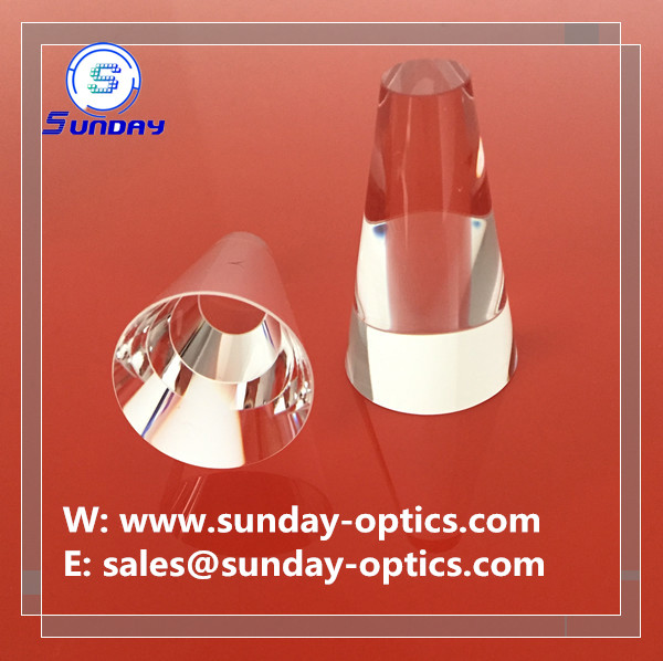 Optical Glass Conical Prism,conic lens