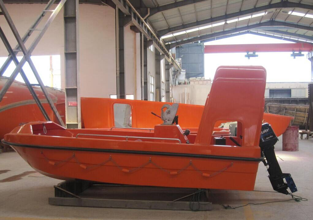 Latest marine FRP fast speed rescue boat with certification