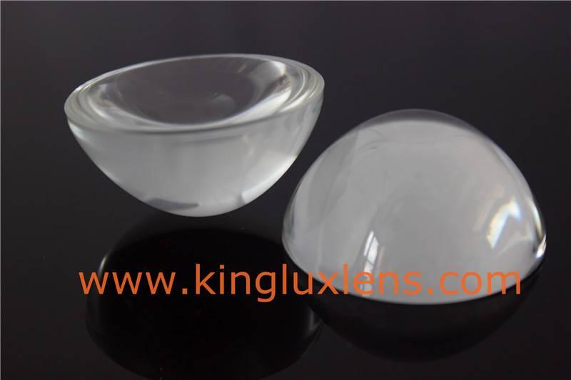 optical half ball glass lenses for led cob