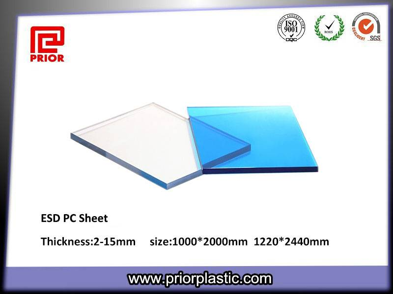 Clear ESD/Anti-static PC Sheet for Jigs and Fixtures
