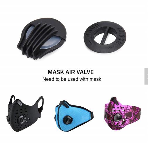 Bulk stocks PP breathing valve for face ma sk silicone valve filter for N95 cup msk