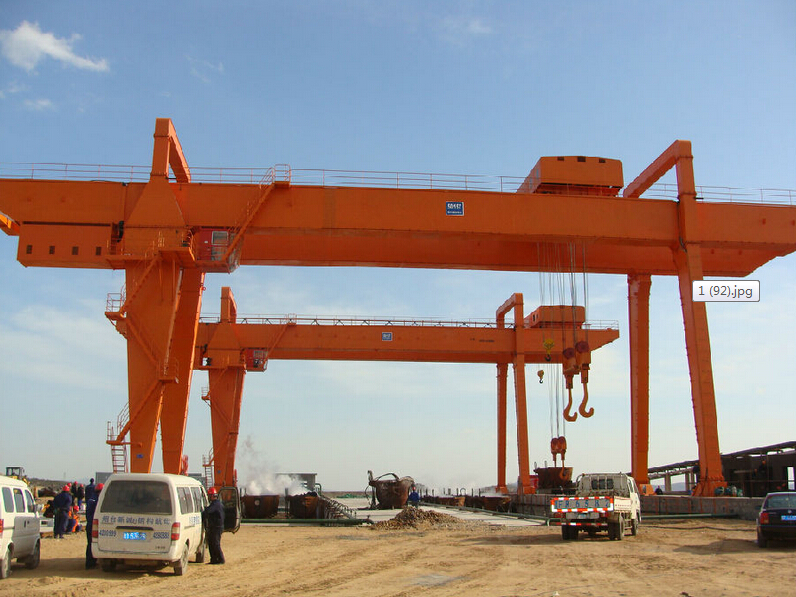 35 ton Double Girder Rail Mounted Gantry Crane Manufacturer