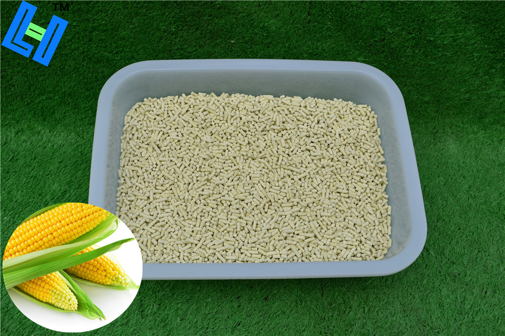 Corn cat litter with easy clump