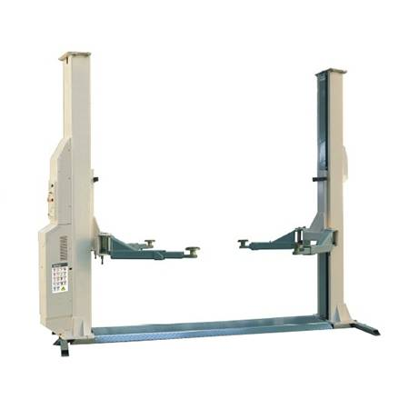 Electric release two post car lift for workshop