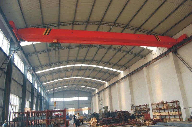 electric overhead travelling 3 ton hoist suspension engine single girder crane for sale
