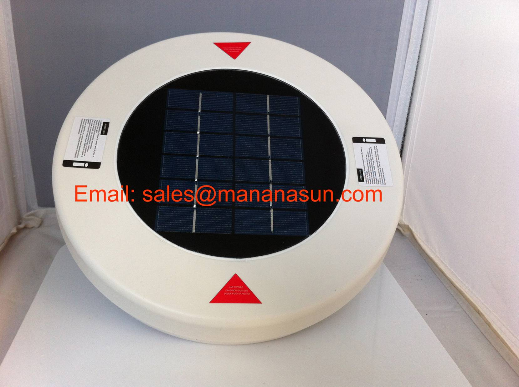 Solar Pool Ionizer Beneficial to Reduce the Need of Chlorine by 85%-95%