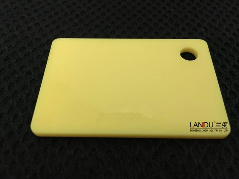 Solid yellow color acrylic sheets landu color number 237