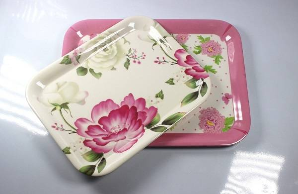 "13'' and 15.5"" oblong melamine tray"