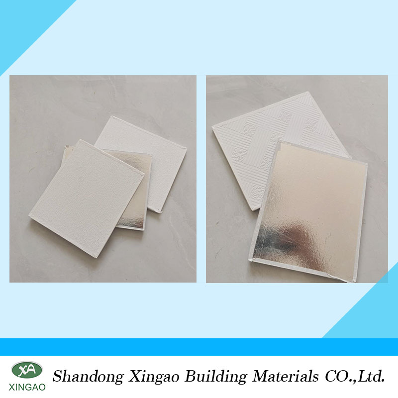 Factory Supply Decorative Fireproof PVC Paper Laminated Gypsum Boards False Ceiling Tiles