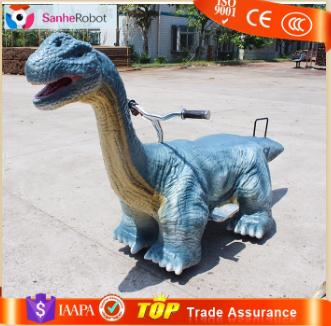 Handmade electric animatronic interactive dinosaur coin operated kiddie rides