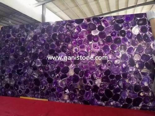 Illuminating Purple Agate Slab