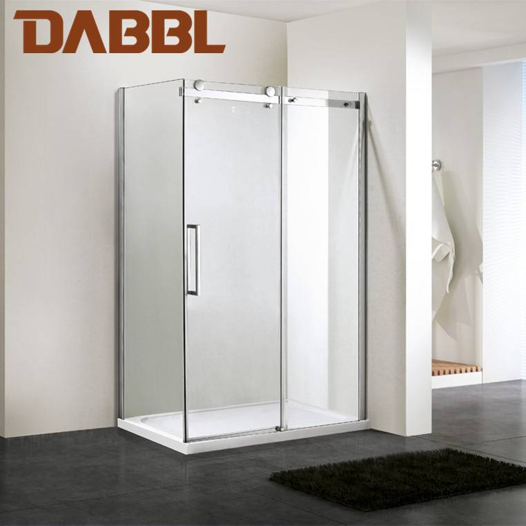 Fashionable Simple and Easy Clean Dabbl Rectangle single sliding door shower enclosure