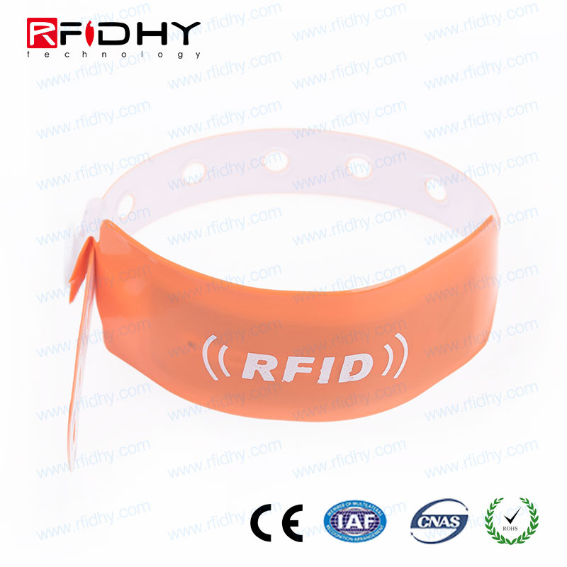 One Time Use PVC RFID Wristband for Ticketing