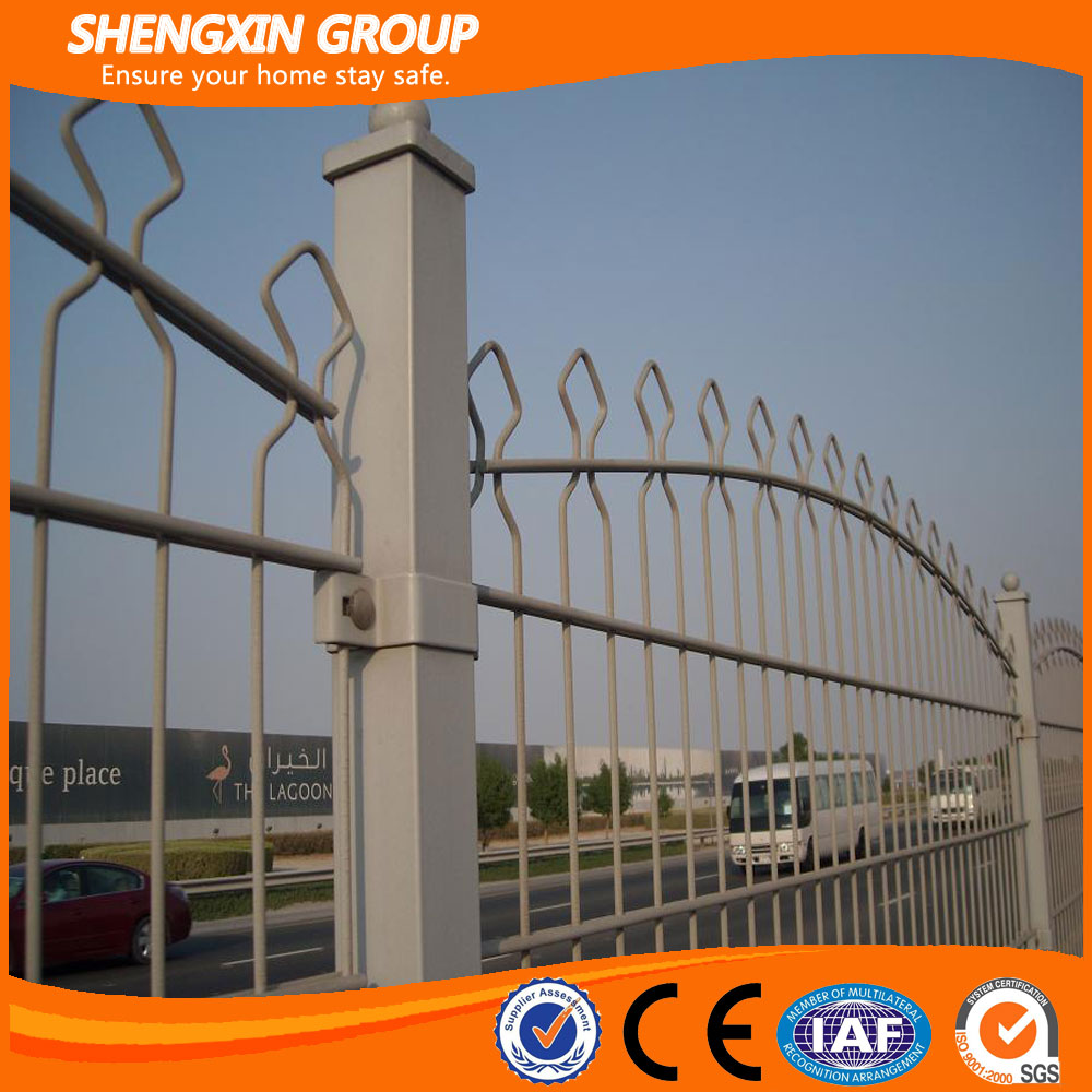 Double wire fence arch mesh fence