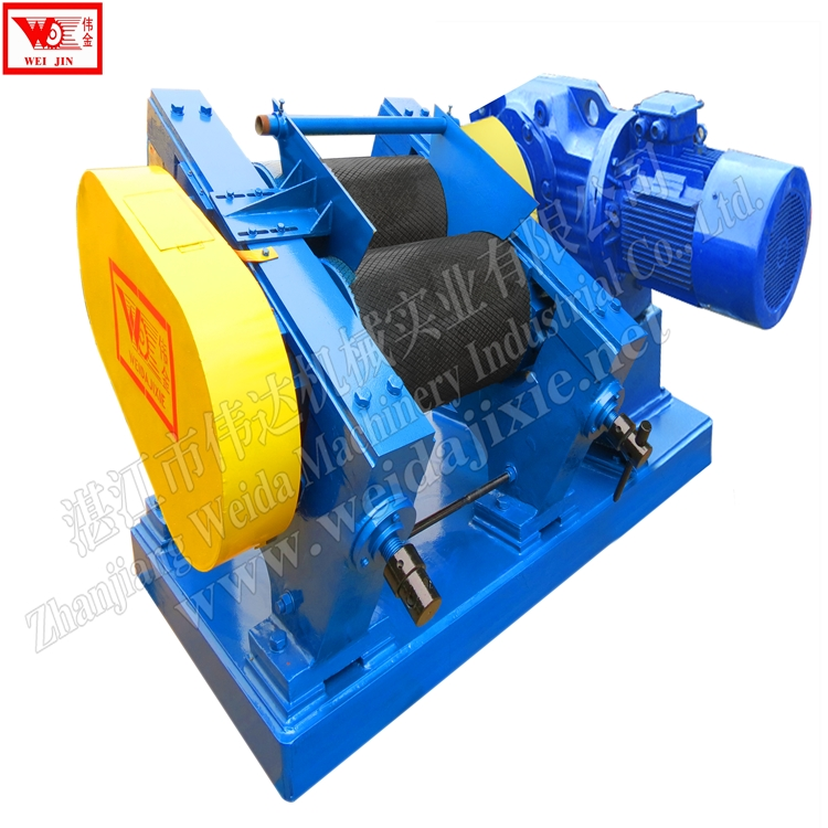 block rubber dry mixing rubber crepe machine