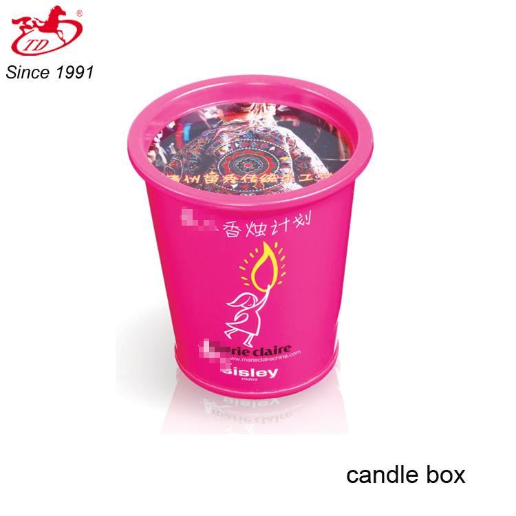 wholesale fashion cup shape tin candle box