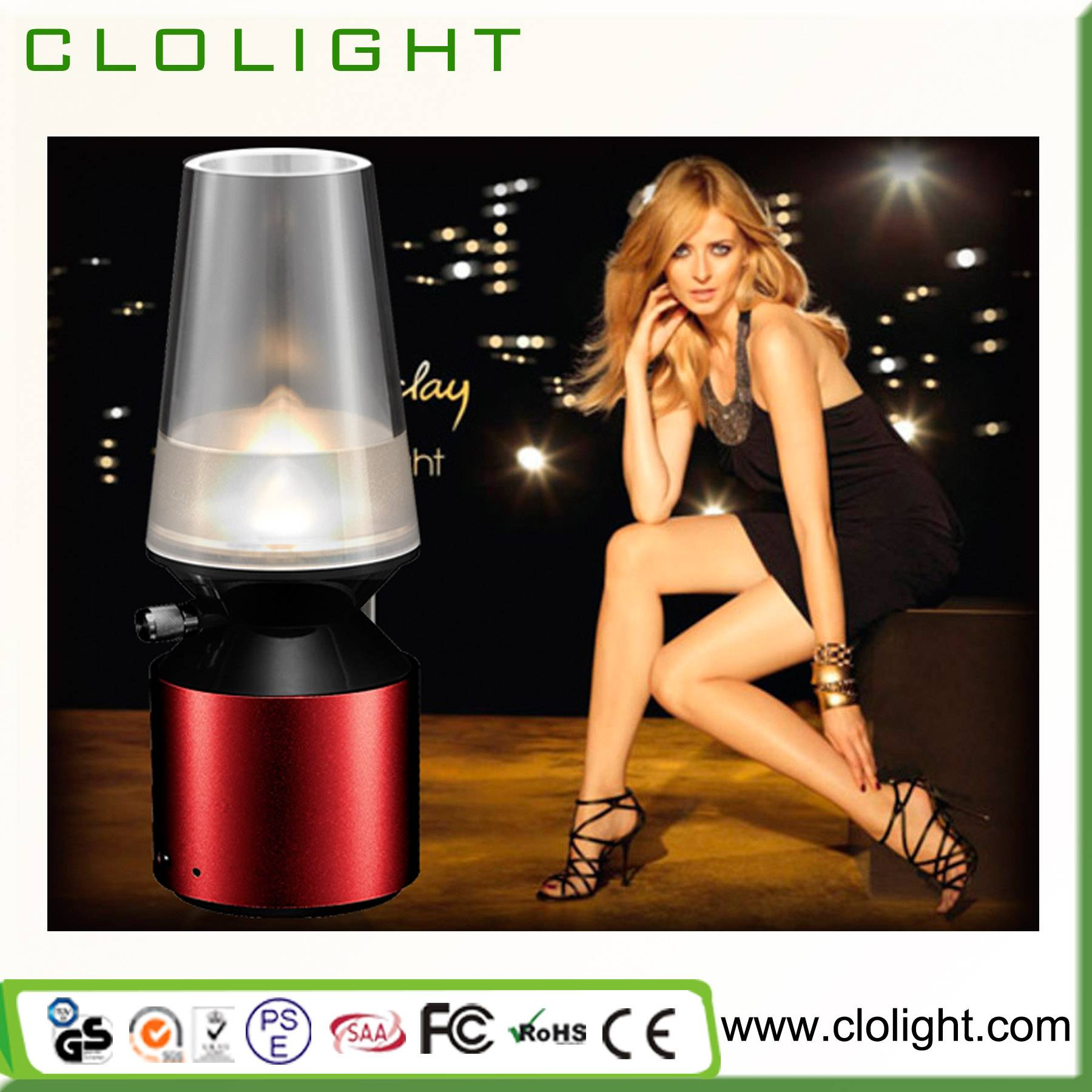 Kerosene night light USB rechargeable LED Kerosene lamp blowing control LED light