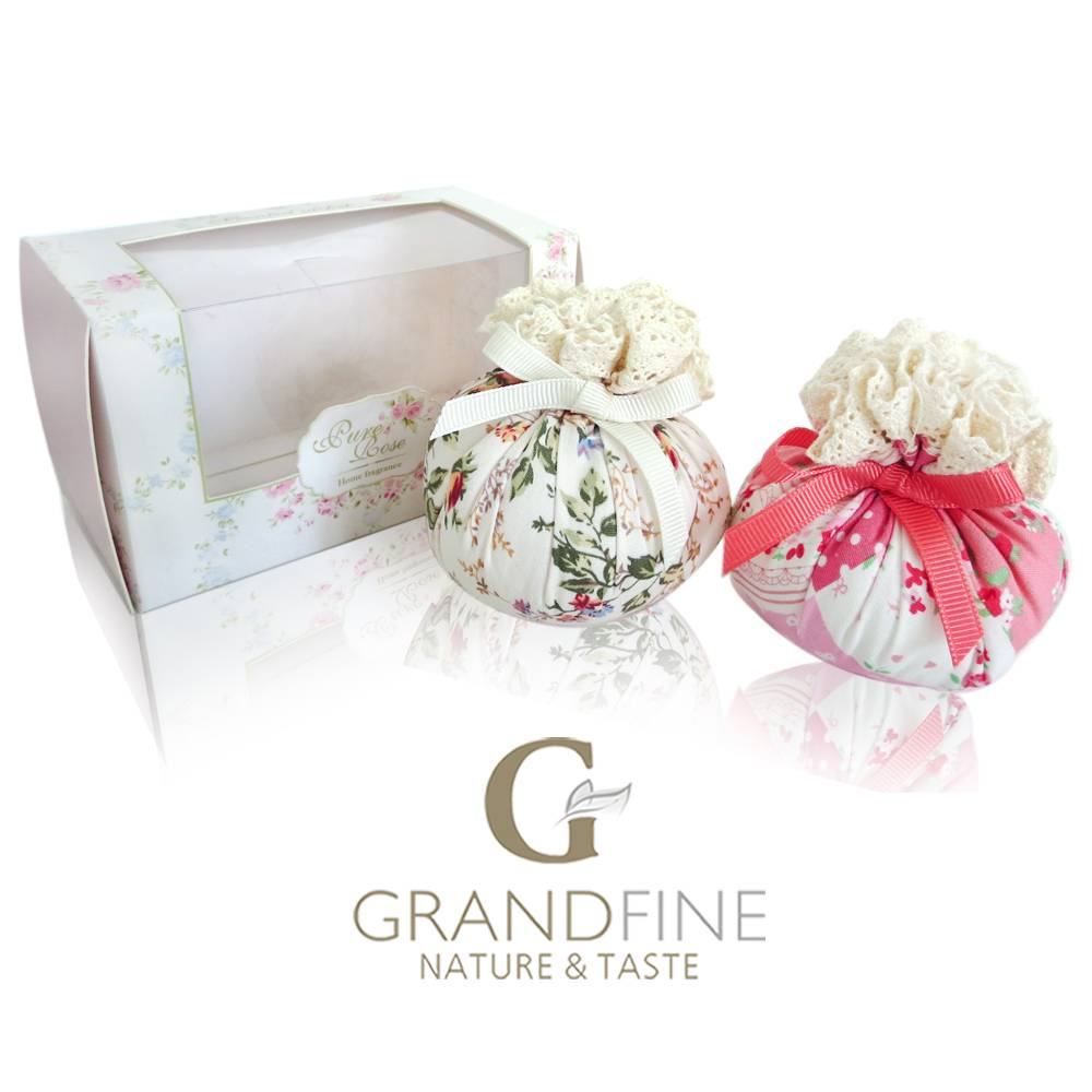 gifts guest fragrance scented fabric sachet bag ribbon pvc box packing